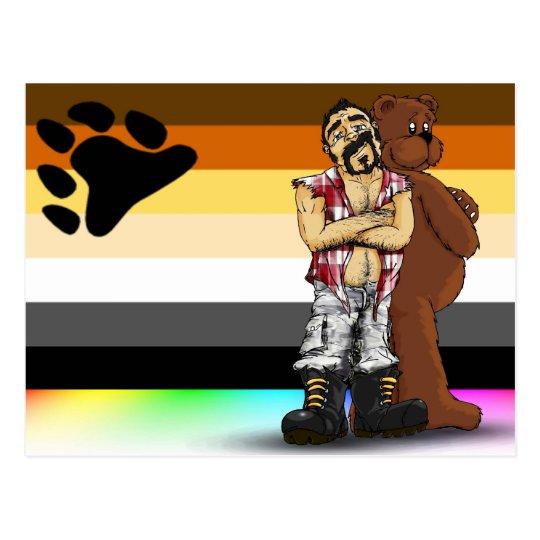 Carte Postale Gay bear flag Postal card