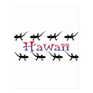 Carte Postale geckos de hawai
