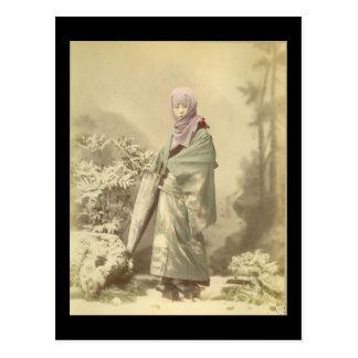 Carte Postale Geisha circa l'hiver 1885
