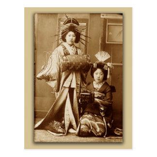 Carte Postale Geishas