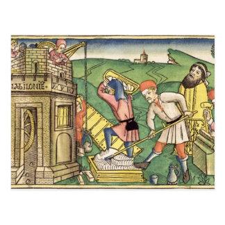 Carte Postale Genèse 11 1-9 construisant la tour de Babel, de t