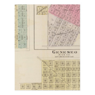 Carte Postale Geneseo, Alton, peu de rivière, le Kansas
