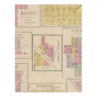 Carte Postale Genève, Atlanta, Dexter, sommet grand, le Kansas