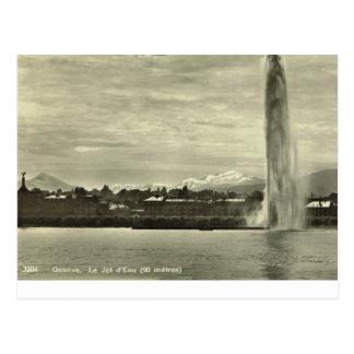Carte Postale Geneve, d'eau de Le Jet, c.1910