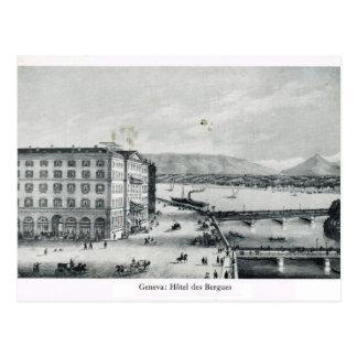 Carte Postale Genève, DES Bergues 1890 d'hôtel