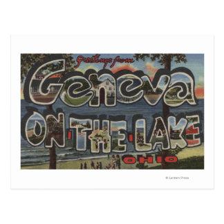 Carte Postale Genève-sur-le-Lac, Ohio - grandes scènes de lettre