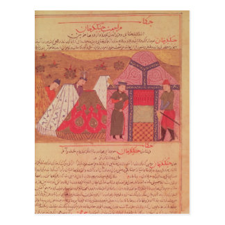 Carte Postale Genghis Khan en dehors de sa tente