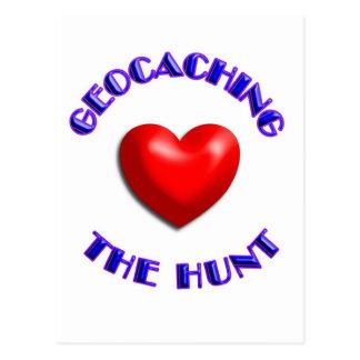 Carte Postale Geocaching d'amour et la chasse