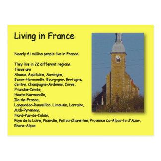 Carte Postale Géographie, études sociales, habitant en France