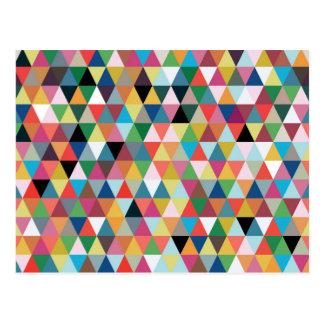 Carte postale géométrique colorée de motif de
