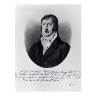 Carte Postale Georg Wilhelm Friedrich Hegel