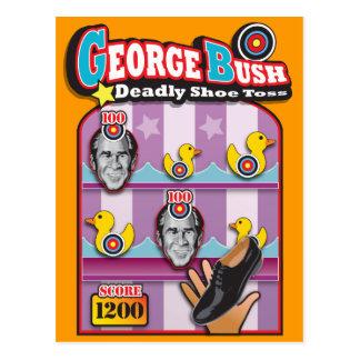Carte Postale George Bush - attaque de jet de chaussure de