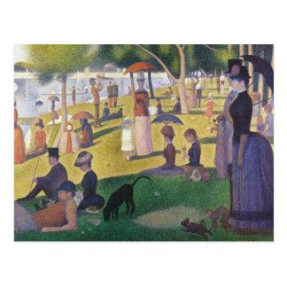 Carte Postale Georges Seurat - un dimanche sur la La grand Jatte