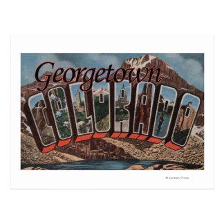 Carte Postale Georgetown, le Colorado - grandes scènes de lettre