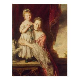 Carte Postale Georgiana, comtesse Spencer avec Madame