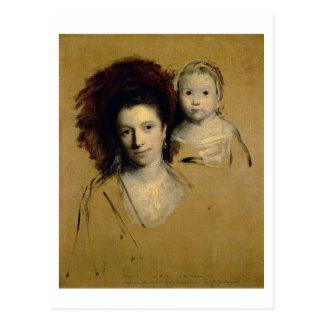 Carte Postale Georgiana, comtesse Spencer et sa Madame de fille