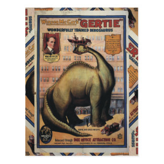 Carte Postale Gertie le dinosaure