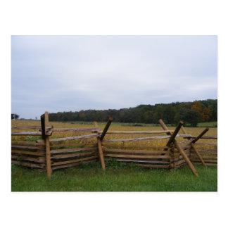 Carte Postale gettysburg dans le champ de bataille de chute