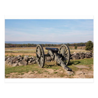 Carte Postale Gettysburg : Une vue de la charge de Pickett