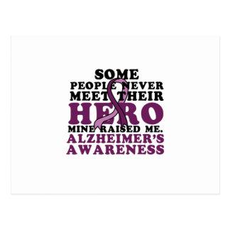 Carte Postale GIF de soutien de la conscience d'Alzheimer