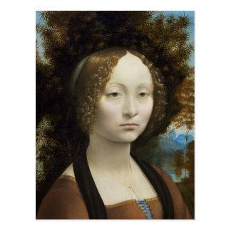 Carte Postale Ginevra de Benci par Leonardo da Vinci