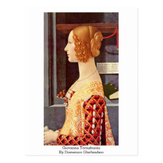 Carte Postale Giovanna Tornabuoni par Domenico Ghirlandaio