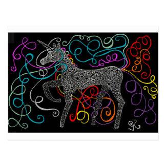 Carte Postale Gitan la licorne magique complète