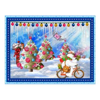 Carte postale givrée de Noël de la livraison de