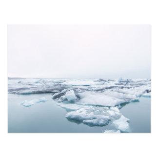 Carte Postale Glaciers de l'Islande - blanc