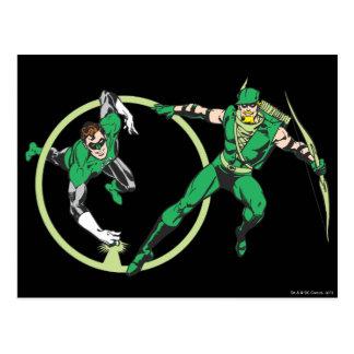 Carte Postale Gladiateur vert et Archer vert