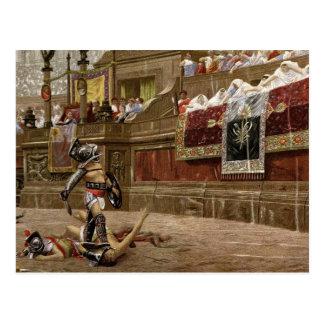Carte Postale Gladiateurs romains antiques