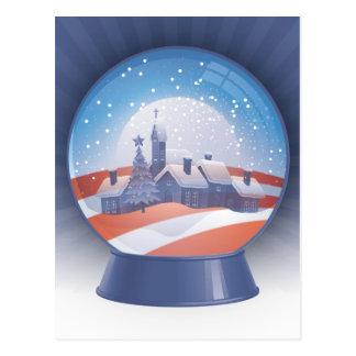Carte Postale globe de neige d'obama