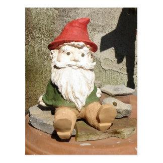 Carte Postale Gnome de jardin