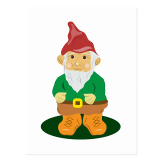 Carte Postale Gnome de pelouse