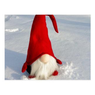 Carte Postale Gnome scandinave de Noël