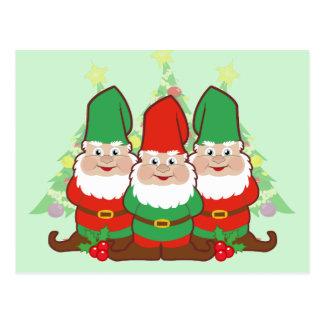 Carte Postale Gnomes de Noël