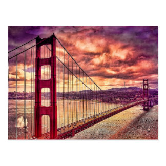 Carte Postale Golden gate bridge à San Francisco, la Californie