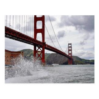 Carte Postale Golden gate bridge à San Francisco vue du fort