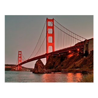 Carte Postale Golden gate bridge chez Sun vers le bas