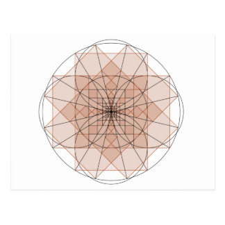 Carte Postale golden rectangle flower