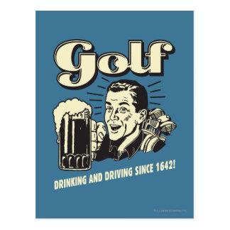Carte Postale Golf : Boire et entraînement depuis 1642