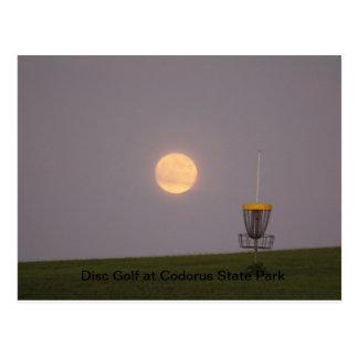 Carte Postale Golf de disque