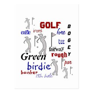 Carte Postale Golf, sport, de motivation
