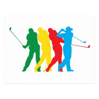 Carte Postale Golfeur dans le mouvement