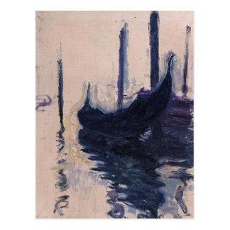 Carte Postale Gondole à Venise par Claude Monet