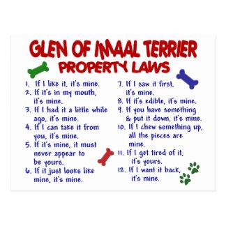 Carte Postale GORGE des lois de propriété d'IMAAL TERRIER