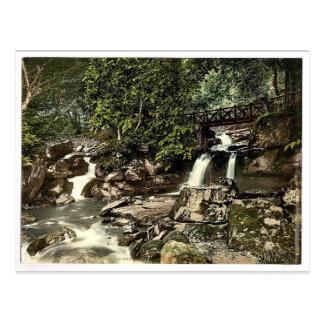 Carte Postale Gorge Lyn., chutes et pont supérieur, Lynton et