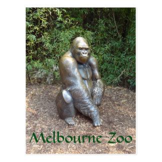 Carte Postale Gorille de zoo de Melbourne