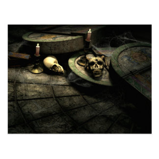 Carte postale gothique d'art de domaine des décès