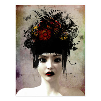 Carte postale gothique surréaliste d'art de